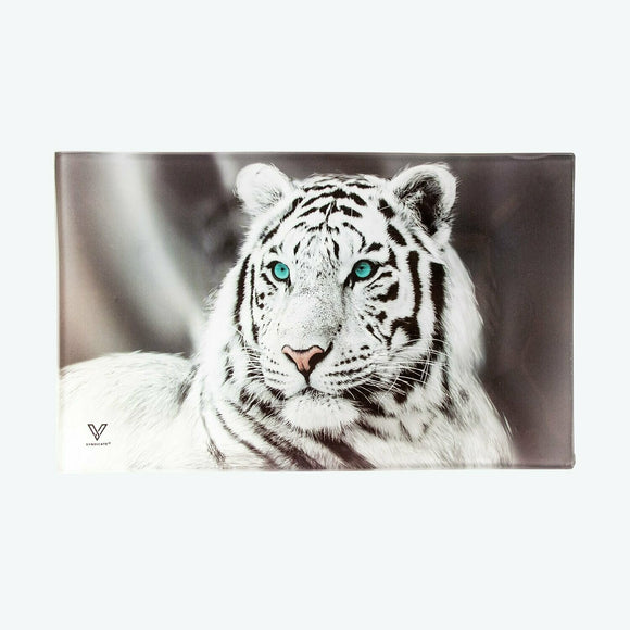Glass Tray - Medium - White Tiger - Head HQ