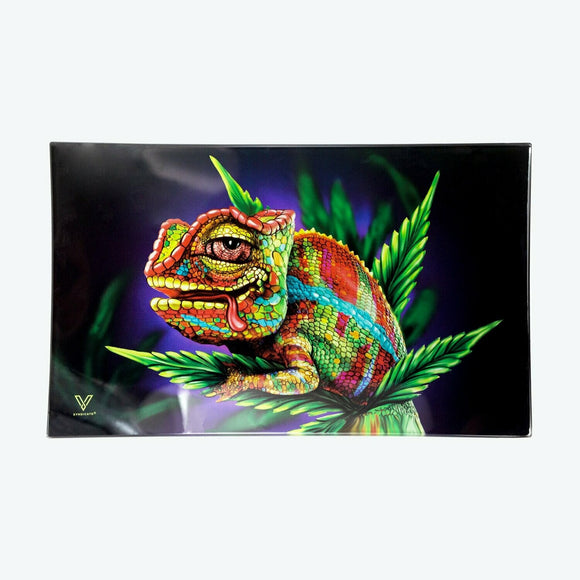 Glass Tray - Medium - Cloud 9 Chameleon - Head HQ