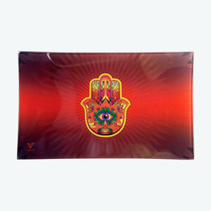 Glass Tray - Medium - Hamsa Red - Head HQ