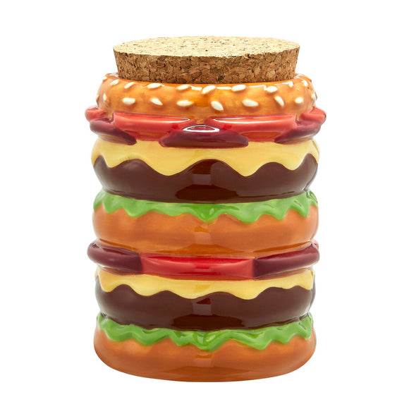 Ceramic Stash Jar - Cheeseburger