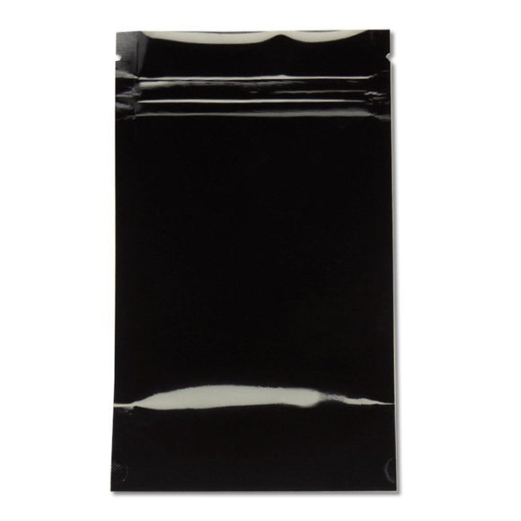 Cannaline 1/4 oz Smell Proof Bag - Black - 4 x 6.5 Inches (50units) - Head HQ