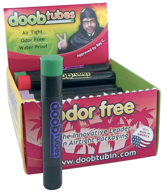Doob Tubes - Small Black w/ Coloured Logo
