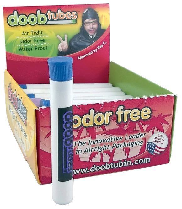 Doob Tubes - Small White w/ Coloured Logo
