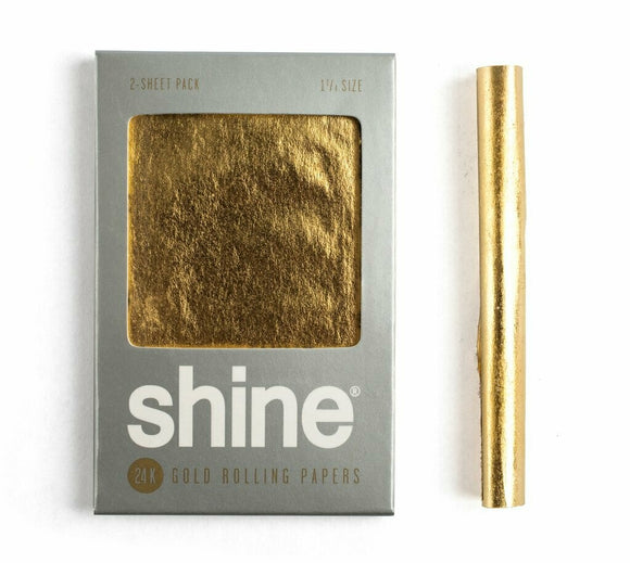 Shine® 24k Gold Papers 1 1/4 - 2 Sheets - Head HQ
