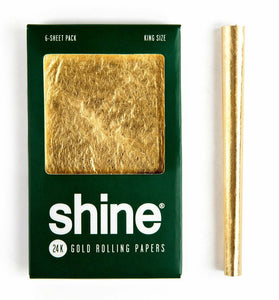 Shine® 24k Gold Papers King Size - 6 Sheets - Head HQ