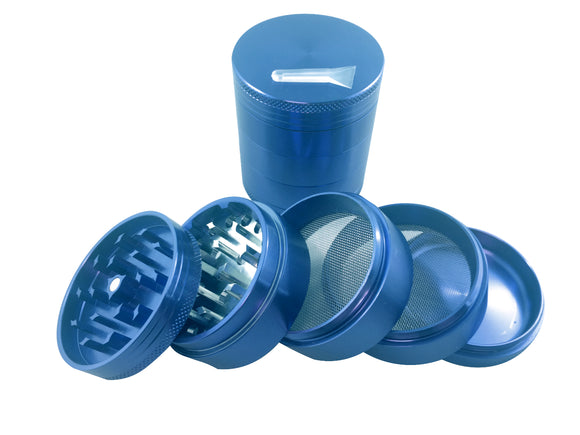 5 pcs Aluminum Grinder Blue - Head HQ