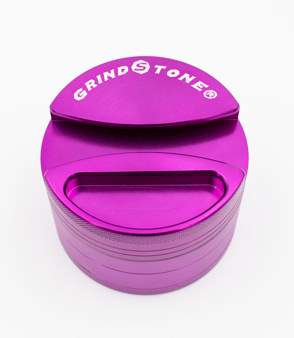 GrindStone® 4pcs Grinder w/ Ashtray 64mm - Purple - Head HQ
