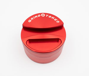 GrindStone® 4pcs Grinder w/ Ashtray 64mm - Red - Head HQ
