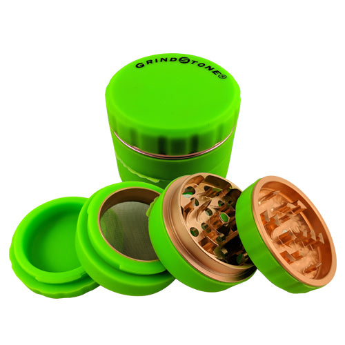 Grind Stone® 4 pcs Silicone Grinder 51mm - Green - Head HQ