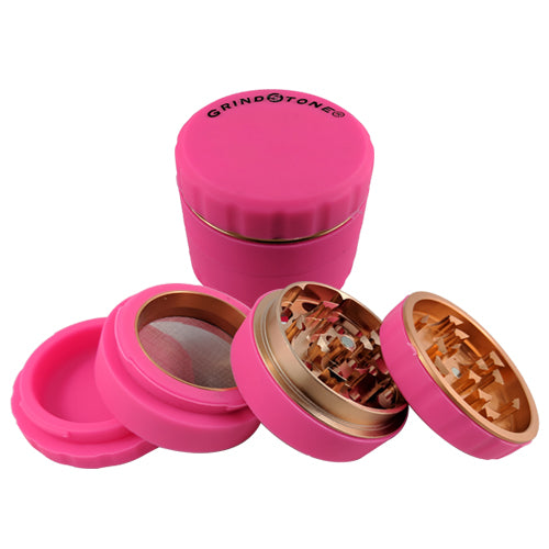 Grind Stone® 4 pcs Silicone Grinder 51mm - Pink - Head HQ