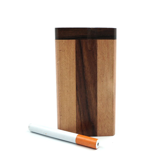 Large Wood Dugout w/ Bat - Vertical Stripe
