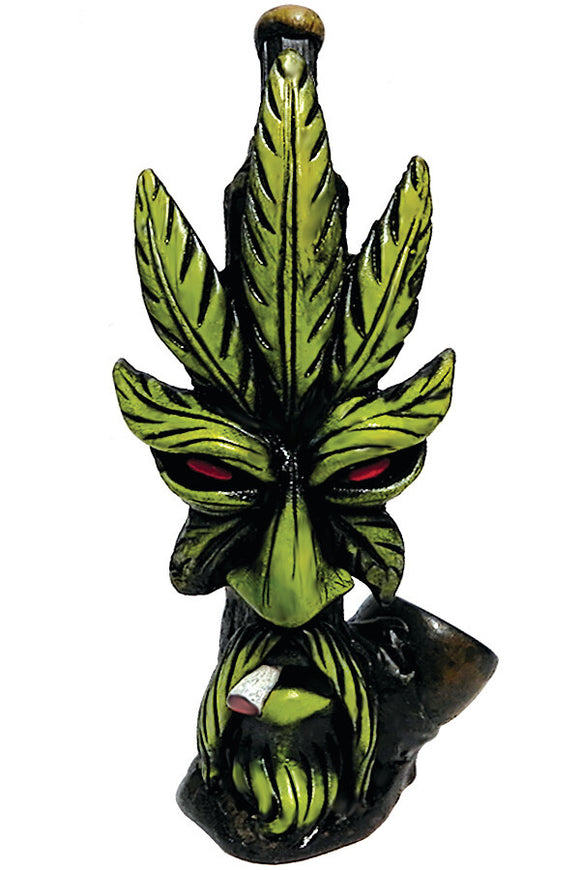 Resin Pipe - Medium - Smoking Leaf Man