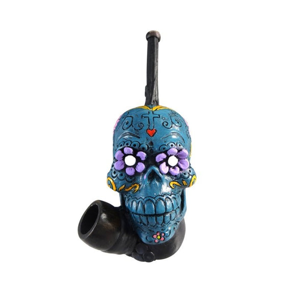 Resin Pipe - Medium - Sugar Skull