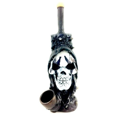 Resin Pipe - Medium - Spike Skull