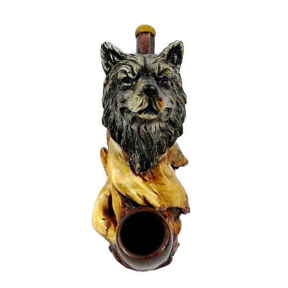 Resin Pipe - Medium - Wolf Head