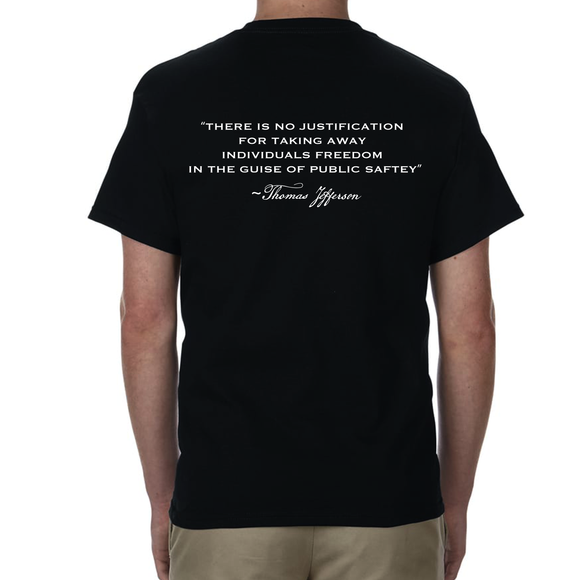 OUR FREEDOM - Thomas Jefferson Quote - Black