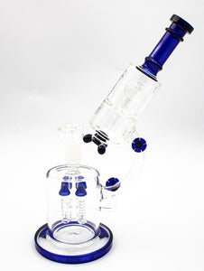 "Seventeen † Ten 14"" Bong - Elevated Microscope - Blue - Head HQ"