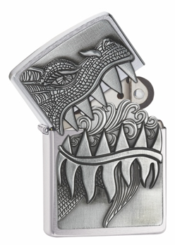 Zippo Lighter - Dragon's Teeth Emblem