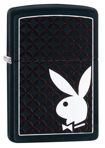 Zippo Lighter - Playboy Logo on Black Matte