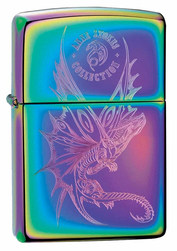 Zippo Lighter -  Dragon on Spectrum