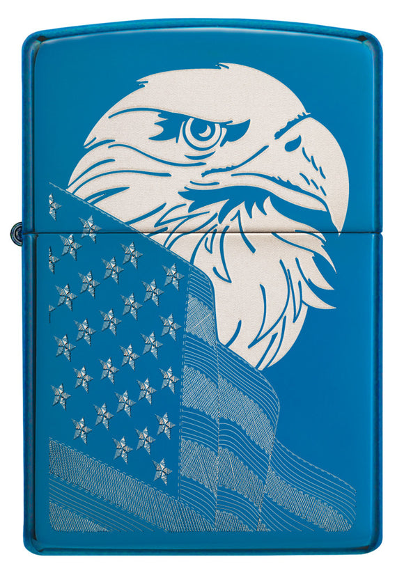 Zippo Lighter - Freedom Watch Blue