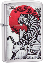 Zippo Lighter - White Tiger and Sunset