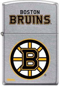 Zippo Lighter - Boston Bruins on Chrome