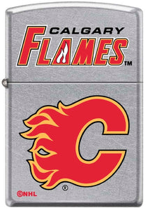 Zippo Lighter - Calgary Flames on Chrome