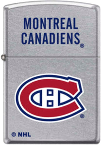 Zippo Lighter - Montreal Canadiens on Chrome