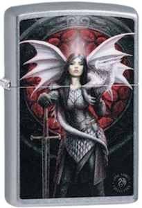 Zippo Lighter - Woman & Dragon