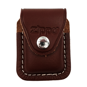 Brown Leather Pouch w/ Clip
