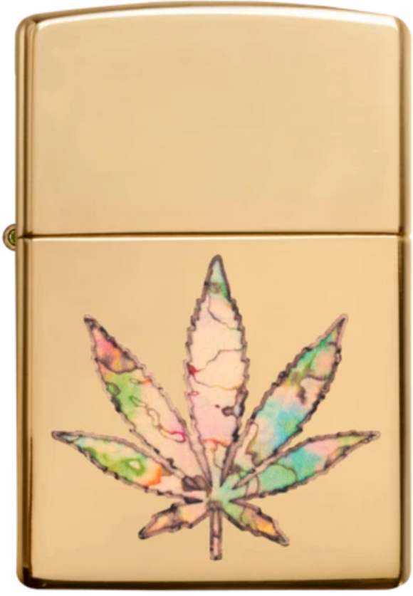 Zippo Lighter - Fusion Leaf on Brass