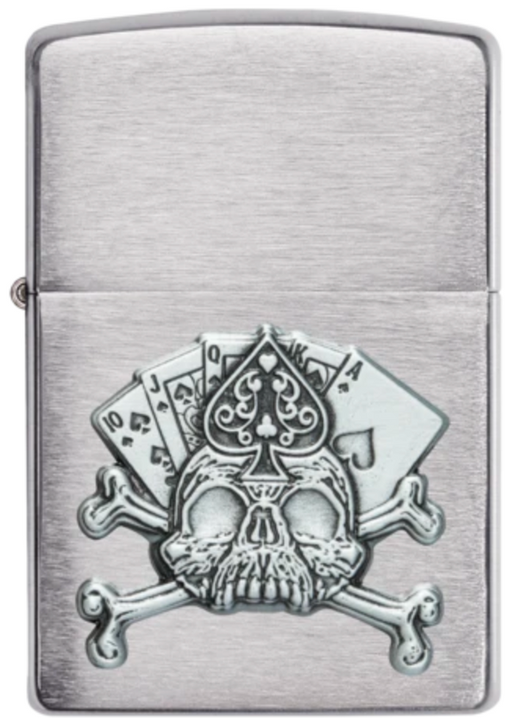 Zippo Lighter - Royal Flush Skull