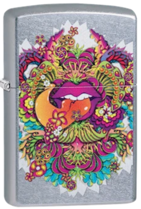 Zippo Lighter - Psychedelic Lip