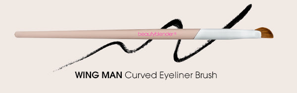 wing man angled eye brush