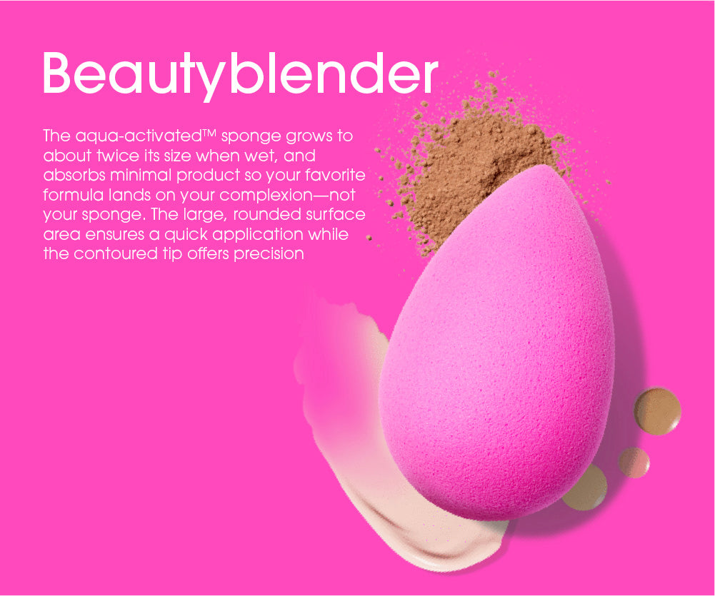 use beautyblender makeup sponge for minimal makeup waste