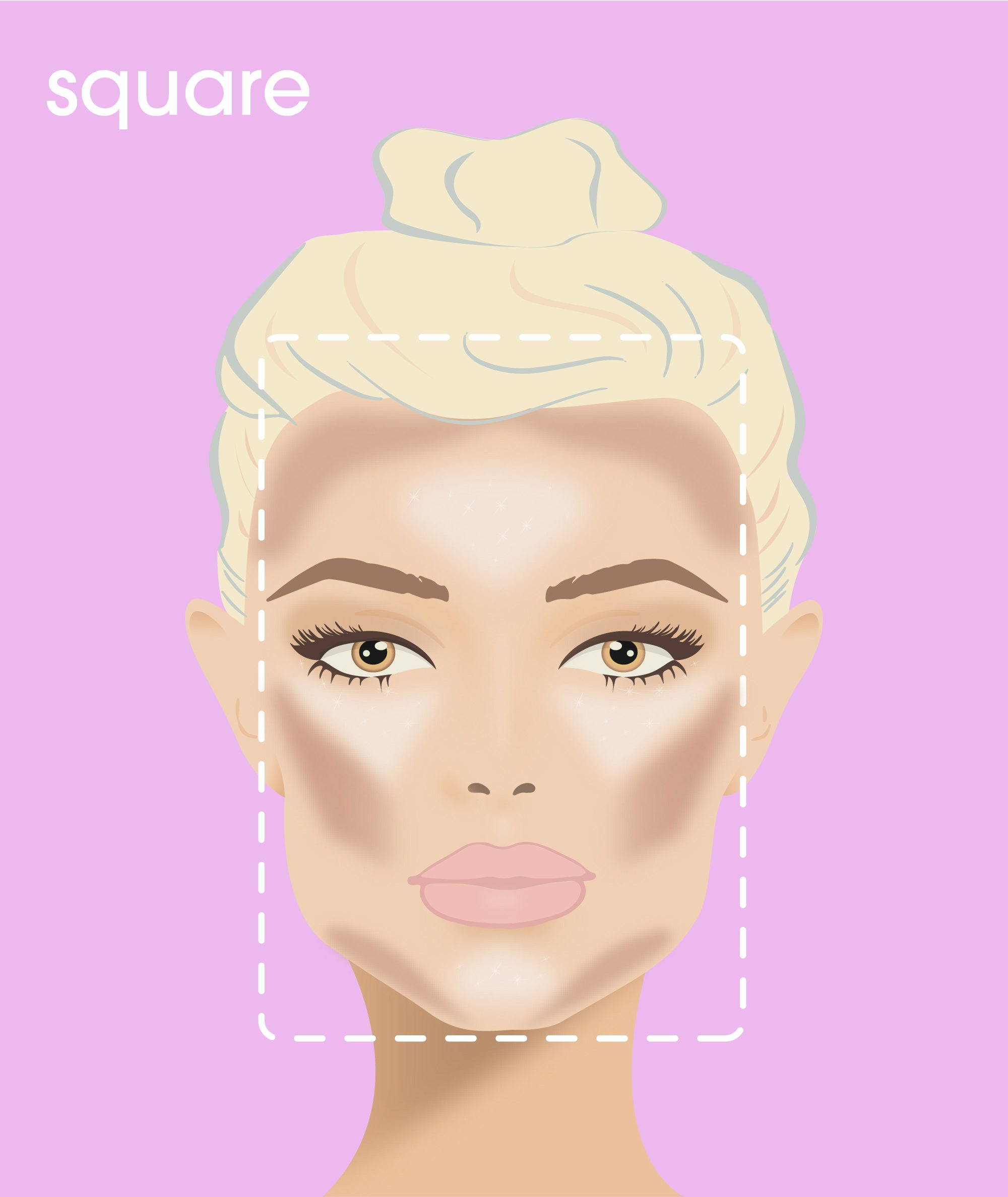 how to contour a square-shaped face