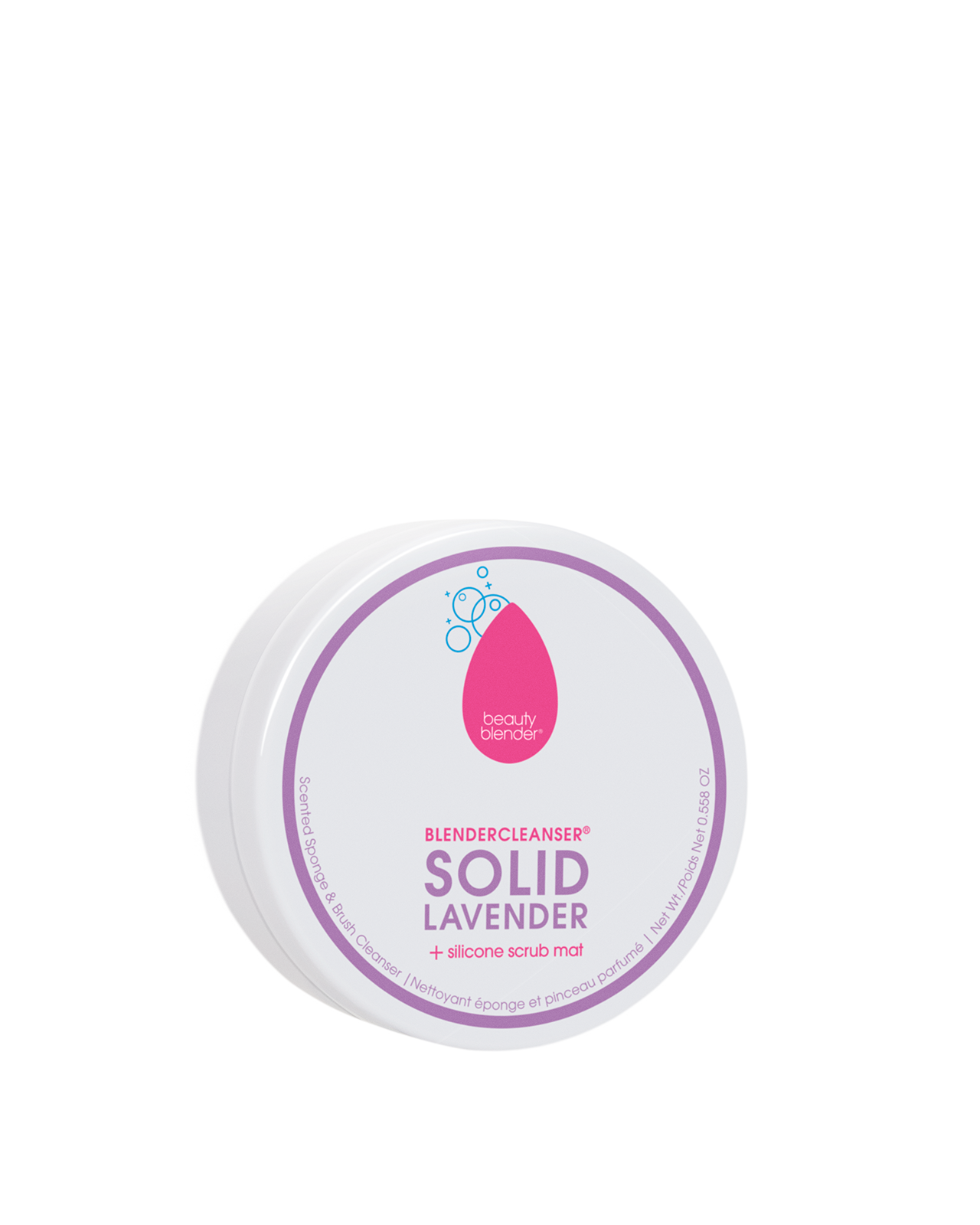 BLENDERCLEANSER® SOLID®  LAVENDER Scented Sponge & Brush Cleanser .558oz