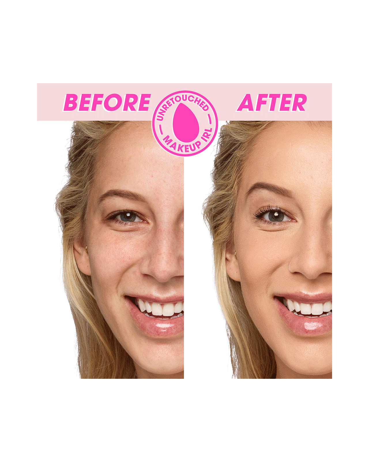 Beautyblender BOUNCE™ Airbrush Liquid Whip Concealer Before & After
