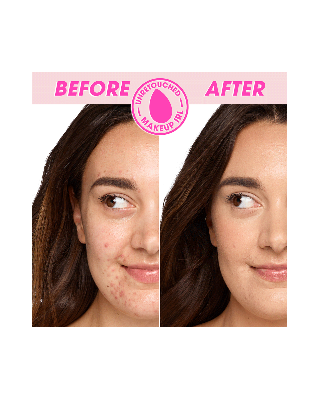 Bounce Foundation 210 C before and after