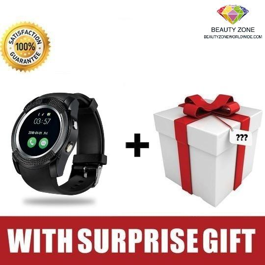 V8 SMARTWATCH WITH SMARTPHONE FEATURES (SIM CARD-READY)