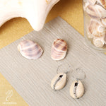 WHITE SHELL EARRINGS - SILVER