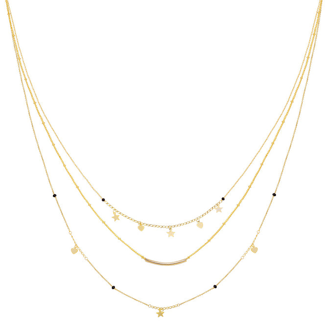 CUTE TRIPLE NECKLACE - GOLD