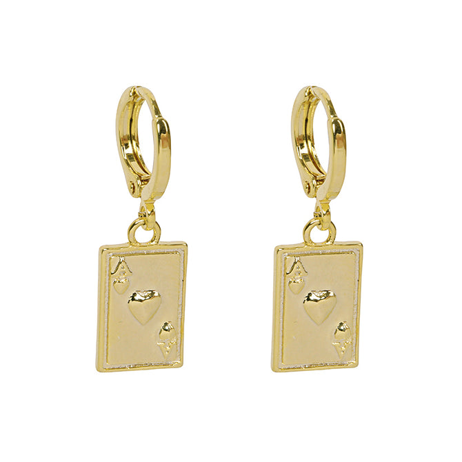 Oorbellen Ace Of Cards EARRINGS - GOLD