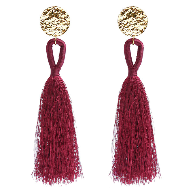 BRUSH EARRINGS - RED