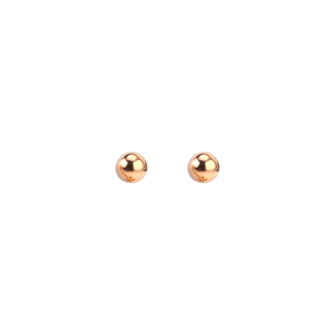 BALL STUDS - ROSE GOLD