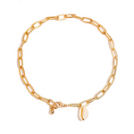 CHAIN ANKLET WITH SHELL