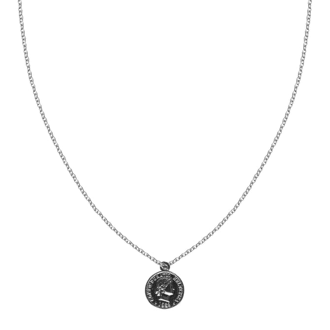 VINTAGE COIN NECKLACE - SILVER