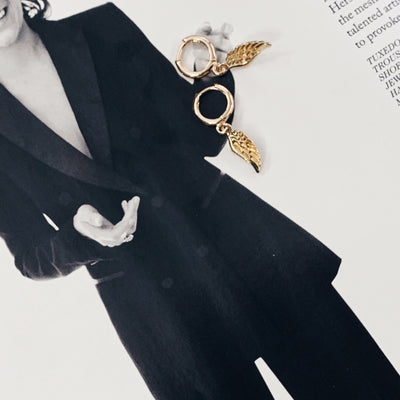 WING EARRINGS - GOLD