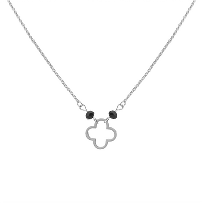 LUCKY CLOVER NECKLACE - SILVER